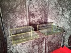 Pair of double display cases for shop (reserved)