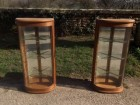 Pair of mural display cases