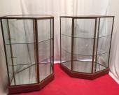 Pair of vintage shop display cases