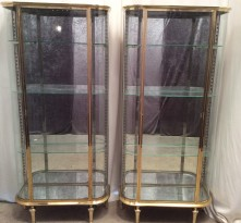 Pair of vintage shop display cabinets.