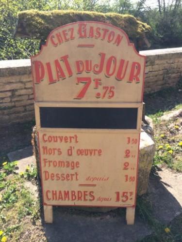 Vintage restaurant advertising panel