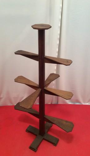 Vintage oak stand display