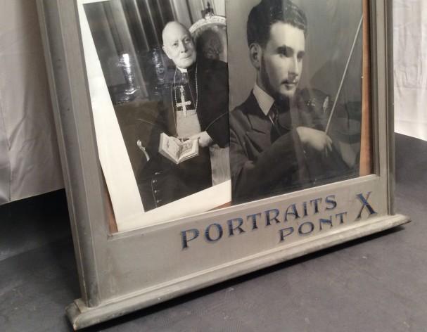 Vintage photographer's vitrine