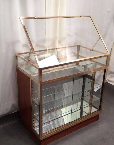 Vintage shop counter desk display cabinet