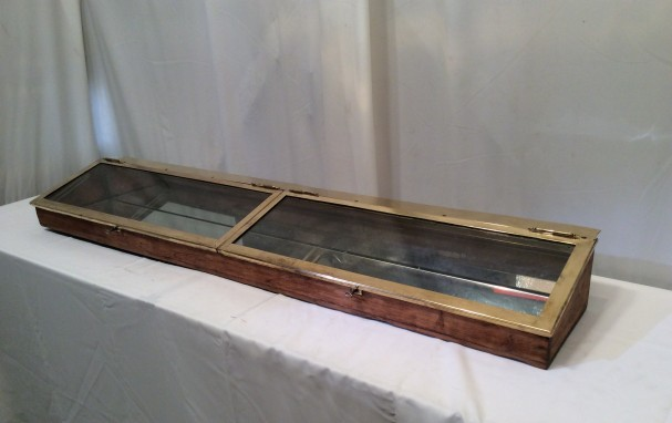 Vintage shop double display case.