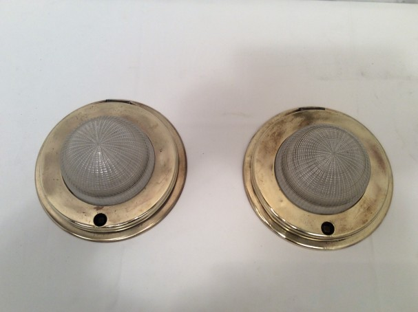 Pair of gangway lamps.