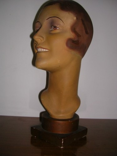 Head bust hat display (sold)
