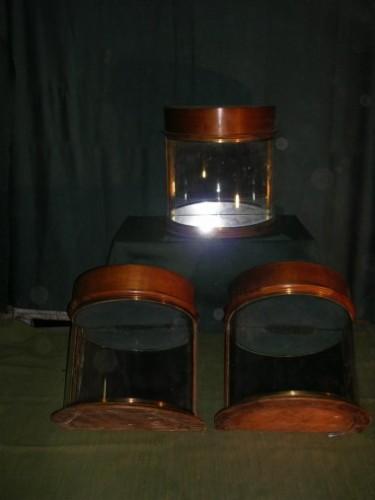 Vintage hat shop display cases