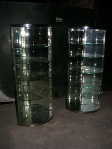 Pair of corners display case
