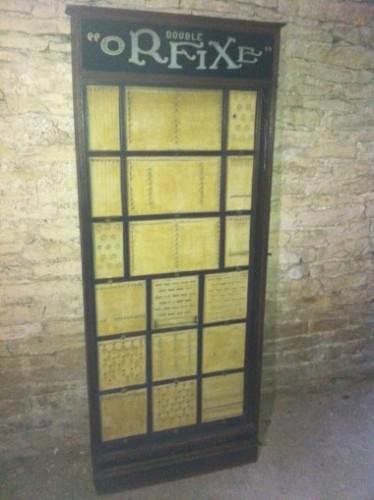 Vintage jewelry display case