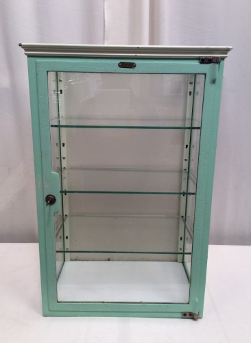 Vintage medical display case.