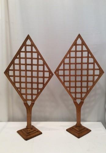 Pair of vintage stand displays.