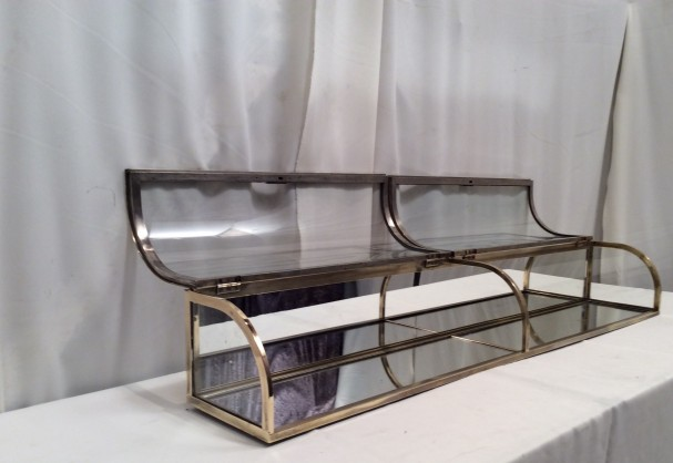 Vintage double shop display case