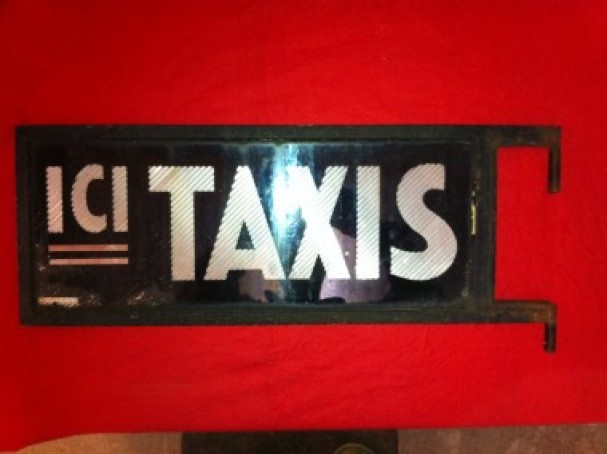Vintage taxis sign
