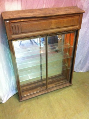 Vintage wall hanging display case