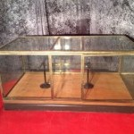 Vintage shop counter display cabinet