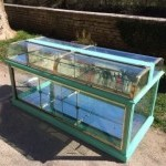 Vintage candy store display cabinet