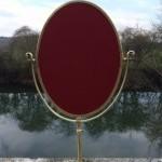 Vintage shop brass stand mirror