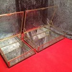 Set of two vintage shop display cases