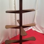 Vintage oak stand display
