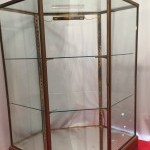 Pair of vintage shop display cases
