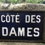 Old ceramic sign.