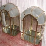Pair of vitrines with dome