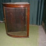 Oak and curved glass display case