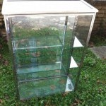 Vintage chromed display case
