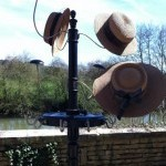 Hats and belts stand display