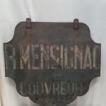 Vintage roofer sign
