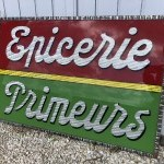 Old store sign.