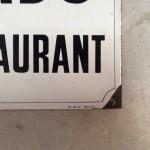 Vintage enamelled sign.